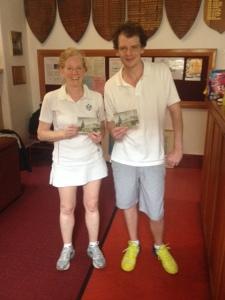 Division 2 Winner Christine Stirling & Runner Up Tom McAuley