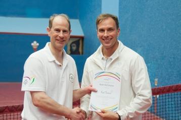 HRH presents certificates