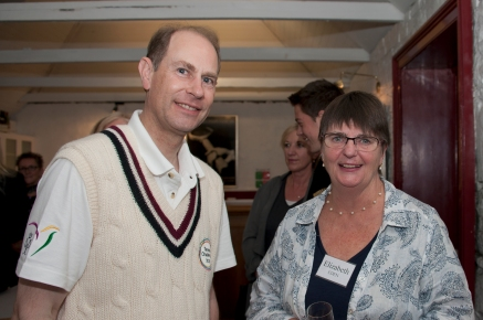 HRH with event organiser Liz Eden