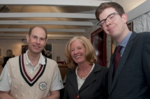 HRH with HRTC President Christine Stirling and son Lindsay Kent-Fahey
