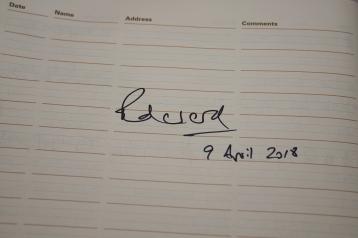 Signed by HRH